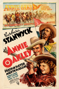 "Annie Oakley (RKO, 1935). Fine/Very Fine on Paper. One Sheet (27.5"" X 41""). From the Mike Kaplan Collection..."