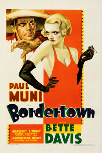 "Bordertown (Warner Bros., 1935). Very Fine on Paper. One Sheet (27.5"" X 41""). From the Mike Kaplan Collection..."
