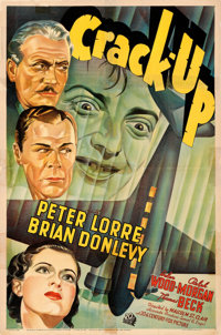 """Crack-Up (20th Century Fox, 1936). Very Good/Fine on Linen. One Sheet (27"""" X 41""""). From the Mike Kaplan Collec..."""