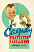 "Movie Posters:Comedy, Jimmy the Gent (Warner Bros., 1934). Fine/Very Fine on Linen. One Sheet (27"" X 41"") Sam Berman Artwork. From the Mike Kapl..."