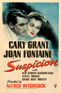 """Suspicion (RKO, 1941). Fine+ on Linen. One Sheet (27"""" X 41""""). From the Mike Kaplan Collection"""