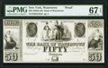 Obsoletes By State:New York, Watertown, NY- Bank of Watertown $50 18__ as G20a Proof PMG Superb Gem Unc 67 EPQ.. ...