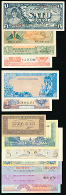 Indonesia Group Lot of 53 Examples Very Fine-Crisp Uncirculated. ... (Total: 53 notes)