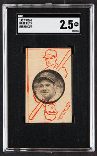 1927 W560 Babe Ruth SGC Good+ 2.5