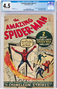 The Amazing Spider-Man #1 (Marvel, 1963) CGC VG+ 4.5 Cream to off-white pages