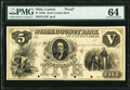 Canton, OH- Stark County Bank at Canton, Ohio $5 18__ G12 Wolka 0280-02 Proof PMG Choice Uncirculated 64