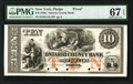 Obsoletes By State:New York, Phelps, NY- Ontario County Bank $10 185_ as G10 Proof PMG Superb Gem Unc 67 EPQ.. ...