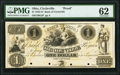 Circleville, OH- Bank of Circleville $1 18__ as G2 as Wolka 0668-01 Proof PMG Uncirculated 62