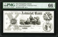 Obsoletes By State:New Hampshire, Keene, NH- Ashuelot Bank $10 June __, 18__ as G64 Proprietary Proof PMG Gem Uncirculated 66 EPQ.. ...