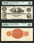 Bordentown, NJ- Bordentown Banking Co. $5 Oct. 1, 1851 as G6a Proof; Back Proof PMG Gem Uncirculated 66 EPQ; PMG Choice...