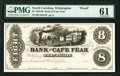 Obsoletes By State:North Carolina, Wilmington, NC- Bank of Cape Fear $8 18__ as Design 8A Proof PMG Uncirculated 61.. ...