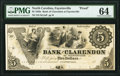 Obsoletes By State:North Carolina, Fayetteville, NC- Bank of Clarendon at Fayetteville $5 18__ as G2 Proof PMG Choice Uncirculated 64.. ...