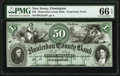 Obsoletes By State:New Jersey, Flemington, NJ- Hunterdon County Bank $50 18__ as G32a as Wait 604 Proprietary Proof PMG Gem Uncirculated 66 EPQ.. ...