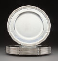 Silver & Vertu, Twelve Tiffany & Co. Silver Dinner Plates, New Yor...