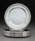 Silver & Vertu, Twelve Tiffany & Co. Silver Bread and Butter Plates, New York, 1913. Marks: TIFFANY & CO, 18342 MAKERS 6742, STE...