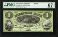 Millville, NJ- Millville Bank $1 18__ G2 Wait 1176 Proof PMG Superb Gem Unc 67 EPQ