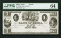 Obsoletes By State:Ohio, Xenia, OH- Bank of Xenia $1 18__ G4 Wolka 2889-01 Proof PMG Choice Uncirculated 64.. ...