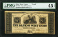 Obsoletes By State:Ohio, West Union, OH- Bank of West Union $3 July 4, 1847 (falsely added) as G44a as Wolka 2824-09 Proof PMG Choice Extremely Fin...