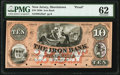 Obsoletes By State:New Jersey, Morristown, NJ- Iron Bank $10 18__ G28a Wait UNL Proof PMG Uncirculated 62.. ...