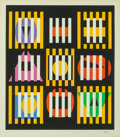 Prints & Multiples, Yaacov Agam (Israeli, b. 1928). Untitled, late 20th century. Screenprint in colors on paper. 22 x 19-1/2 inches (55.9 x ...