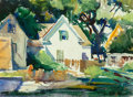 Works on Paper, Albert W. Hampson (American, 1911-1990). Country Cottage. Watercolor on paper. 14-1/2 x 20 inches (36.8 x 50.8 cm) (shee...