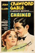 "Movie Posters:Drama, Chained (MGM, 1934). Fine+ on Linen. One Sheet (27"" X 41"") Style D. From the Mike Kaplan Collection.. ..."