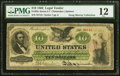 Large Size:Legal Tender Notes, Fr. 93e $10 1862 Legal Tender PMG Fine 12. A d...