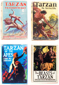 Books:Hardcover, Edgar Rice Burroughs Tarzan Hardback Group of 10 (Various Publishers, 1920-52) Condition: Average VG.... (Total: 10 Items)