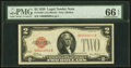 Small Size:Legal Tender Notes, Fr. 1501 $2 1928 Legal Tender Note. PMG Gem Uncirculated 66 EPQ.. ...
