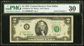 Small Size:Federal Reserve Notes, Serial Number 1 Fr. 1935-K* $2 1976 Federal Reserve Note. PMG Very Fine 30.. ...