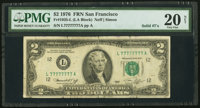 Solid 7 Serial Fr. 1935-L $2 1976 Federal Reserve Note. PMG Very Fine 20 Net