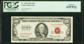 Small Size:Legal Tender Notes, Low Serial 66 Fr. 1550 $100 1966 Legal Tender Note. PCGS Gem New 65PPQ.. ...
