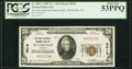 National Bank Notes:Virginia, Wytheville, VA - $20 1929 Ty. 1 The First National Farmers Bank Ch. # 9012 PCGS About New 53PPQ.