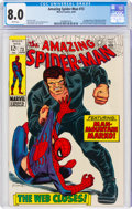Silver Age (1956-1969):Superhero, The Amazing Spider-Man #73 (Marvel, 1969) CGC VF 8.0 White pages....