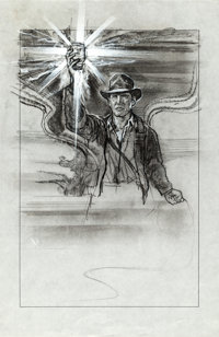 Indiana Jones and the Last Crusade (Paramount, 1989). Very Fine/Near Mint. Graphite and Acrylic Preliminary Concept Art...