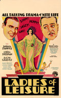 "Movie Posters:Drama, Ladies of Leisure (Columbia, 1930). Fine. Window Card (14"" X 22"") Picker Artwork.. ..."