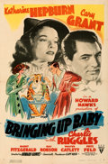 "Movie Posters:Comedy, Bringing Up Baby (RKO, 1938). Folded, Very Fine-. One Sheet (27"" X 41""). From the Mike Kaplan Collection.. ..."