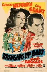 """Bringing Up Baby (RKO, 1938). Folded, Very Fine-. One Sheet (27"""" X 41""""). From the Mike Kaplan Collection"""