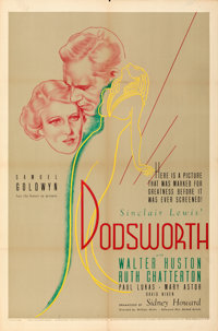 """Dodsworth (United Artists, 1936). Folded, Fine/Very Fine. One Sheet (27"""" X 41""""). From the Mike Kaplan Collecti..."""
