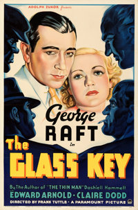 """The Glass Key (Paramount, 1935). Folded, Very Fine. One Sheet (27"""" X 41""""). Style A. From the Mike Kaplan Colle..."""