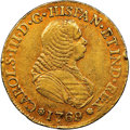 Colombia, Colombia: Charles III gold 4 Escudos 1769 PN-J XF40 NGC,...