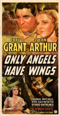 "Movie Posters:Drama, Only Angels Have Wings (Columbia, 1939). Fine+ on Linen. Three Sheet (40.25"" X 78""). From the Mike Kaplan Collection.. ..."