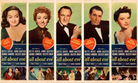 "All About Eve (20th Century Fox, 1950). Very Fine on Linen. Door Panel Set of 5 (20"" X 60""). ... (Total: 5 Ite..."