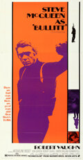 "Movie Posters:Crime, Bullitt (Warner Bros., 1968). Folded, Very Fine+. Three Sheet (41"" X 79""). . ..."