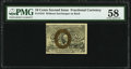 Fractional Currency:Second Issue, Fr. 1244 10¢ Second Issue PMG Choice About Unc 58.. ...
