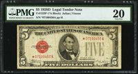 Fr. 1529* $5 1928D Legal Tender Star Note. PMG Very Fine 20