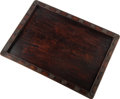 Carvings, A Large Chinese Carved Hardwood Tray, Qing Dynasty. 1-1/4 x 29 x 20-3/4 inches (3.2 x 73.7 x 52.7 cm). ...