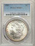 1885 $1 MS66+ PCGS. PCGS Population: (1591/186 and 160/33+). NGC Census: (1786/216 and 53/6+). CDN: $200 Whsle. Bid for...
