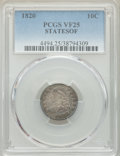 1820 10C STATESOF VF25 PCGS. PCGS Population: (4/26). NGC Census: (0/0). CDN: $475 Whsle. Bid for NGC/PCGS VF25. ...(PCG...