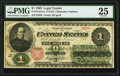Large Size:Legal Tender Notes, Fr. 16 $1 1862 Legal Tender PMG Very Fine 25.. ...
